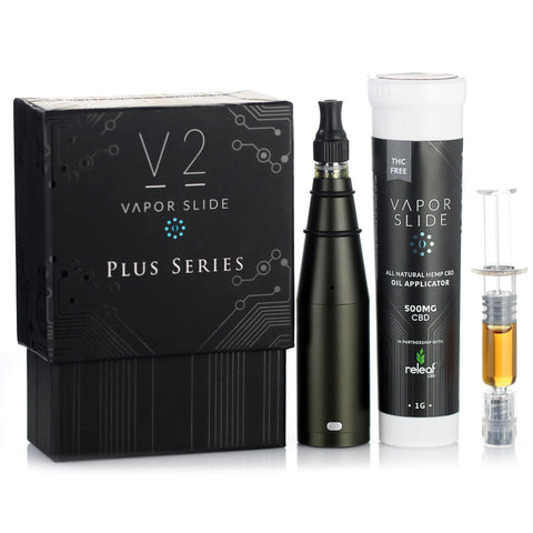 Vapor Slide V2 PLUS + 500mg CBD Oil Bundle Pack