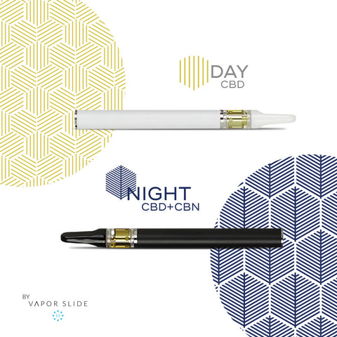 Night & Day CBD Pack by Vapor Slide (New Anxiety Pen Available!)