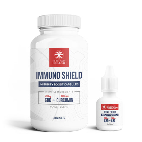 Immunity Bundle - Immuno Shield Capsules + Total Detox Drops