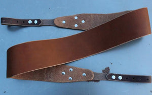 Banjo Strap in Chestnut Brown with Sienna Brown Ends - Created For Comfort, Made From Custom 8 oz. Leather