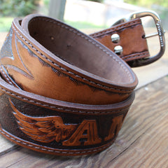 Custom Leather Belt - You Create The Design