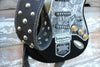 Heavy Metal Black Leather Guitar Strap