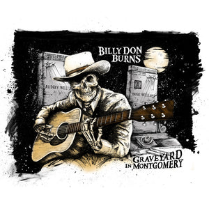 Billy Don Burns - Graveyard In Montgomery - Poster Print