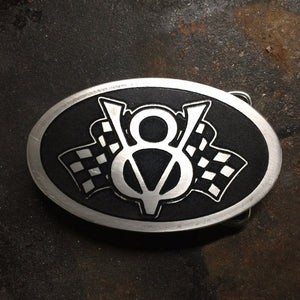 V8 Flags Aluminum Belt Buckle