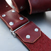 Studded Custom Leather Guitar Strap