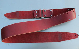 Ox Blood Custom Leather Guitar Strap, Made For Comfort