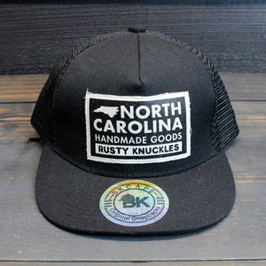 Rusty Knuckles - Handmade In North Carolina - Black Trucker Hat