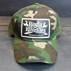 Rusty Knuckles - Camo Trucker Hat