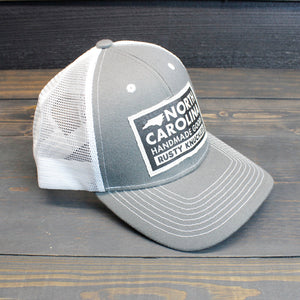 Rusty Knuckles - Handmade In North Carolina - Gray Trucker Hat