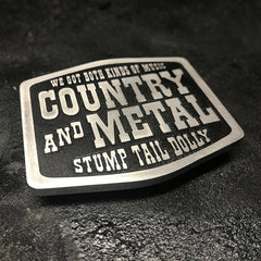 Stump Tail Dolly - Belt Buckle - Both Kinds Of Music