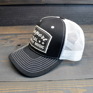 Support Real Country Music - Black Trucker Hat