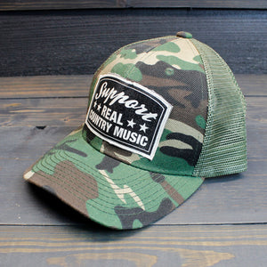 Support Real Country Music - Camo Trucker Hat