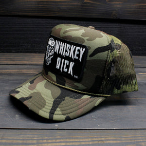 Whiskeydick Camo Trucker Hat