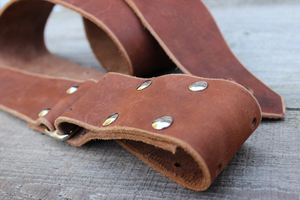 Light Brown Leather Guitar Strap