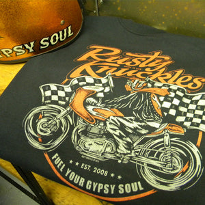 Rusty Knuckles - Cafe Racer #17 Mens Tshirt