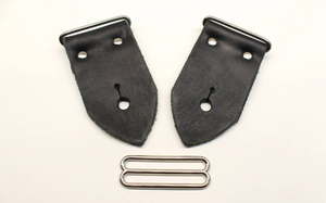 Make Your Own Guitar Strap From Our Build Kit - 2 Inch Wide Black Leather For Your Acoustic or Electric Guitar, Bass Guitar or Mandolin