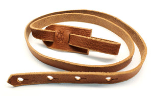 F Style Mandolin Strap in Chestnut Brown Leather