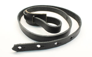 F Style Mandolin Strap in Black Leather