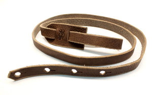 F Style Mandolin Strap in Sienna Brown Leather