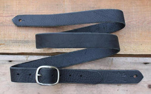 Skinny Leather Guitar Strap - Black