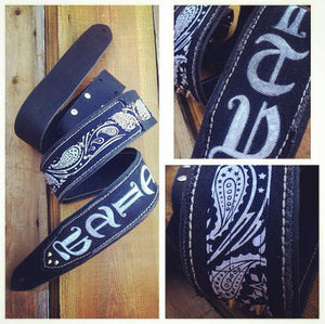 Full Custom Leather Guitar Strap