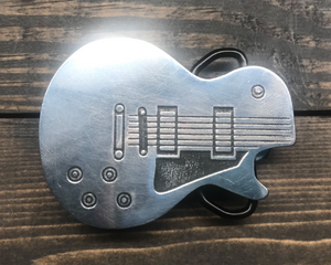 Les Paul Guitar Shape Belt Buckle