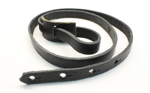 F Style Mandolin Strap Made With Black Leather