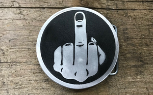 Middle Finger Belt Buckle