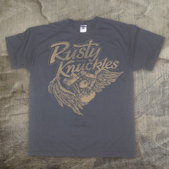 Rusty Knuckles - Angel - Mens Tshirt - Smoke