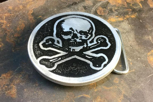 Skull and Crossbones Belt Buckle