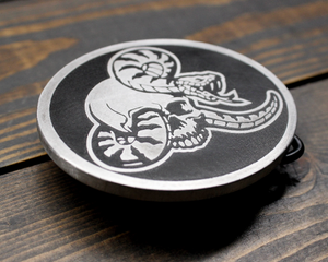 Snake and Skull Belt Buckle
