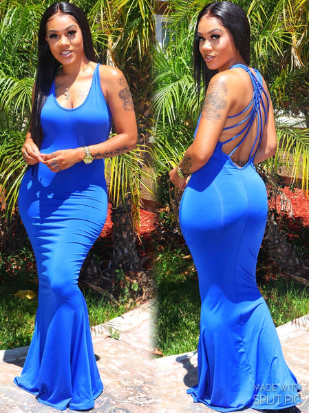 LETS HAVE A BALL DRESS (ROYAL BLUE)