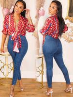 SPLASH SUPER HIGH WAIST DENIM