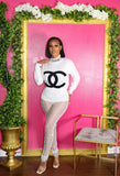 CHANEL DRIP KNIT SWEATER (WHITE)