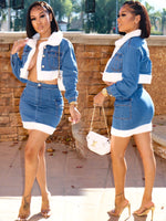 KASH DOLL DENIM SKIRT SET