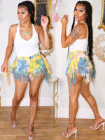 JUICY TAIL FEATHER SHORTS (LEMONADE)