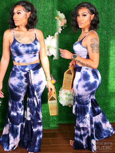 DAISY FLARE SET (NAVY)