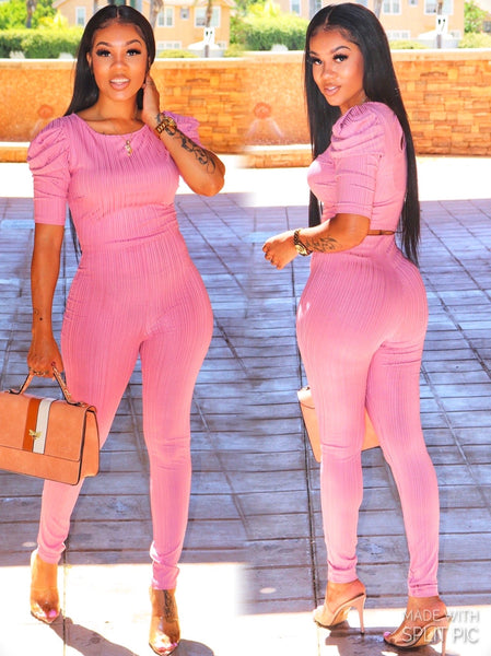 MAJOR THREAT PANT SET (PINK)