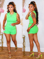 BILLY JEAN CHAINED DETAIL SET (GREEN)