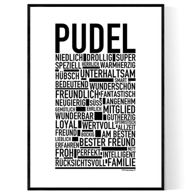 Pudel Poster