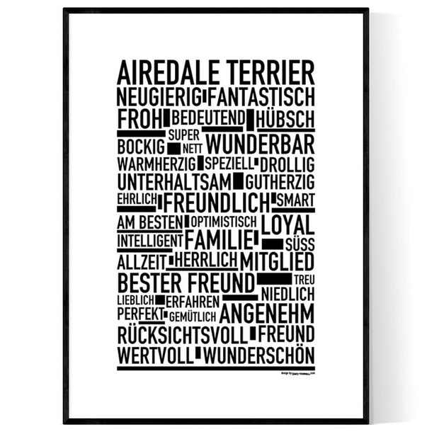 Airedale Terrier Poster