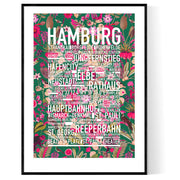 Hamburg Flowers Poster