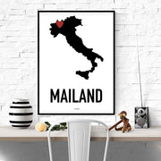 Mailand Heart Poster