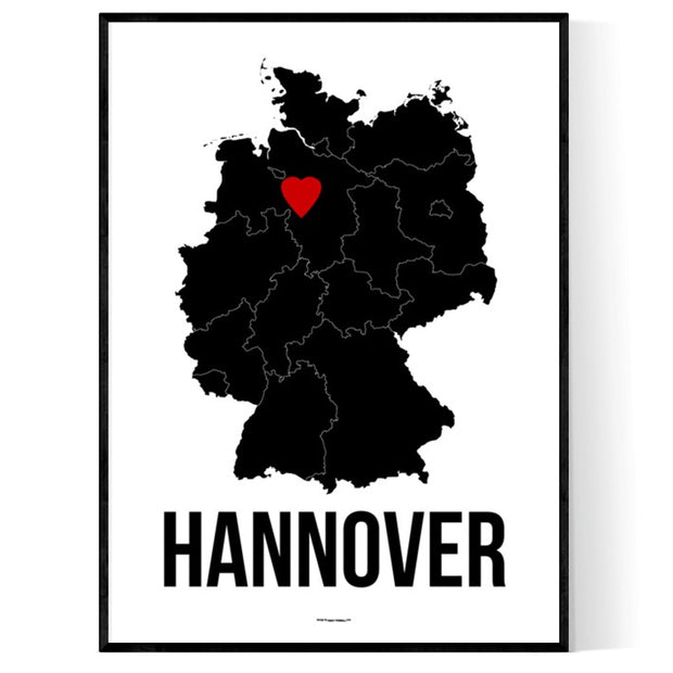 Hannover Herz Poster