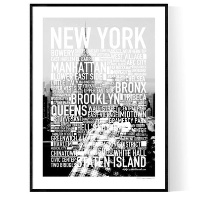 New York Foto Text Poster