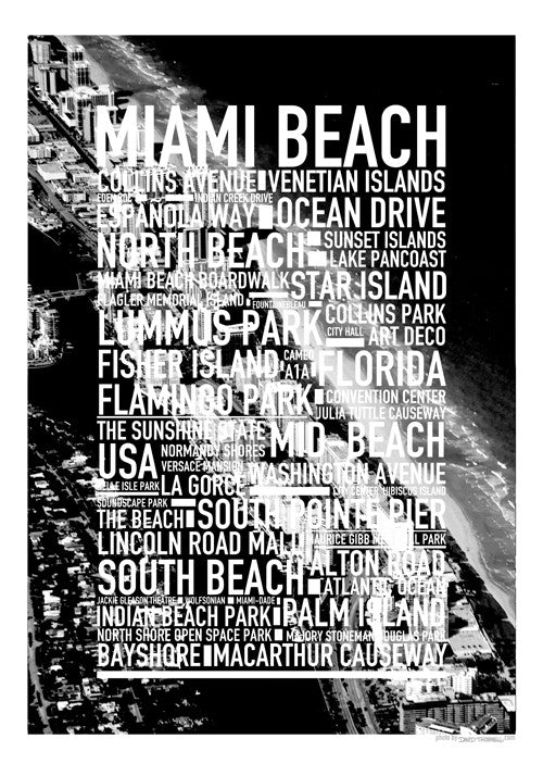 Miami Beach Text Photo