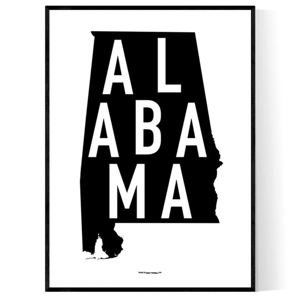 State Of Alabama Poster