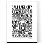 Salt Lake City Poster