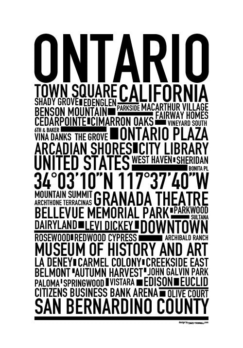 Ontario CA Poster