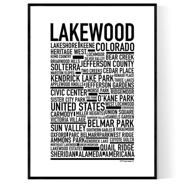 Lakewood CO Poster